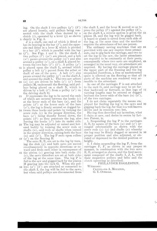 03-03-1857 patent US16725A circular sawing machine pg 3 of 3