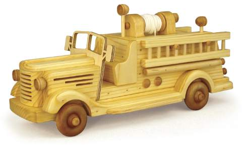 1940s Style Fire Truck Woodworking Plan