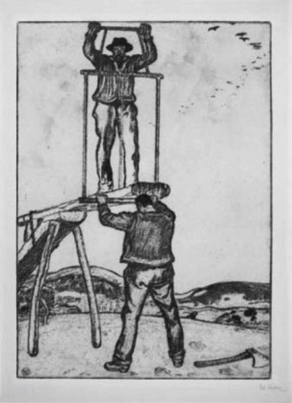 Vintage logging - Saw pits : 1915 Les scieurs de long.