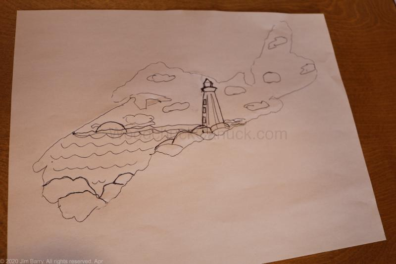 crafts,ns decor,wood map,map of nova scotia,map of ns,painting,lighthouse,