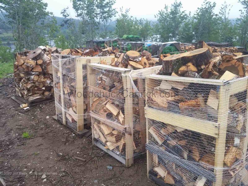 Firewood hardwood ends