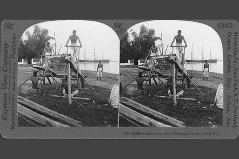 1910s Filipino saw mill.