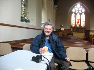 A rest and a hot drink courtesy of St. Tecla