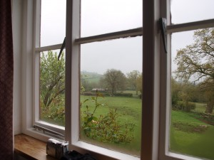 View out of bedroom window at Heath Cottage