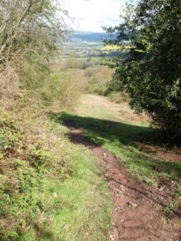 Climbing away from Hay-on-Wye