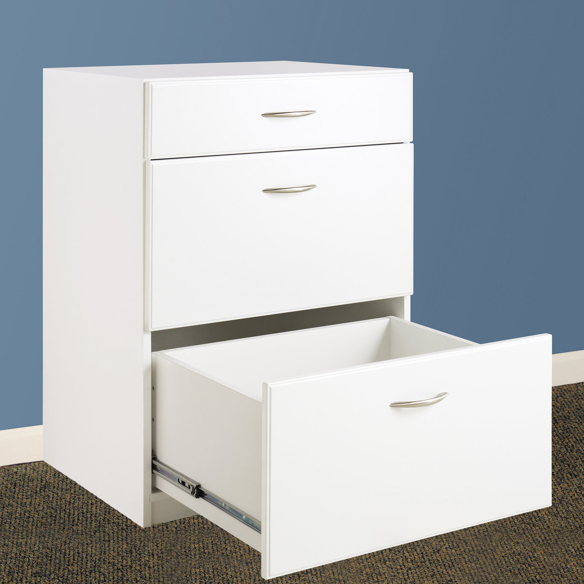 Closetmaid Dimensions 3 Drawer Base Cabinet White
