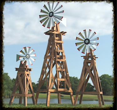 Wood Windmills