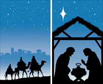WP124 - Manger & Magi Window Poster Set