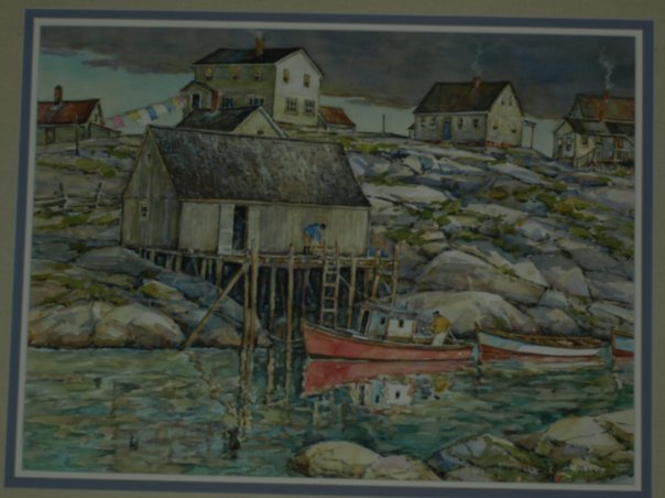Peggy's  Cove N.S. Watercolour Painting