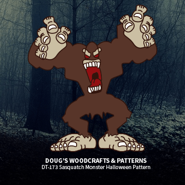 DT-173  Sasquatch Monster Halloween Pattern