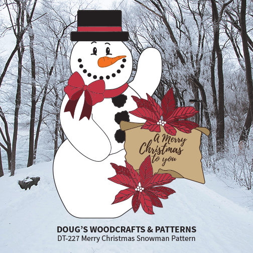 DT-227  Merry Christmas Snowman Pattern
