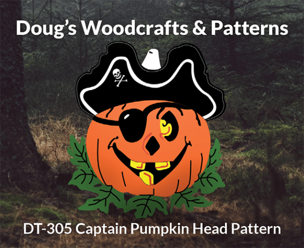 DT-305 CAPTAIN HOOK PUMPKIN HEAD HALLOWEEN PATTERN