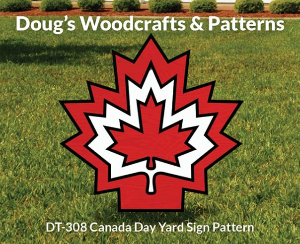 DT-308 Canada Day Yard SignPattern