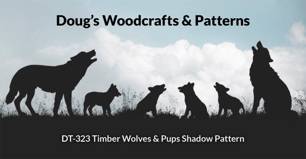 DT-323 Timber Wolves & Pups Shadow Pattern