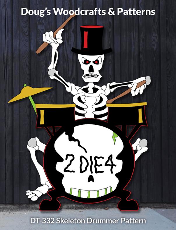 DT-332 Skeleton Drummer Pattern