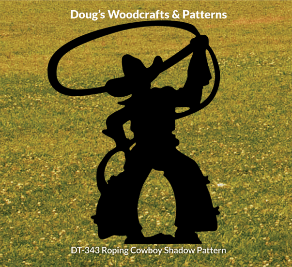 DT-343 Roping Cowboy Shadow Pattern