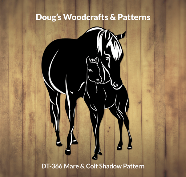 DT-366 Mare & Colt Shadow Pattern