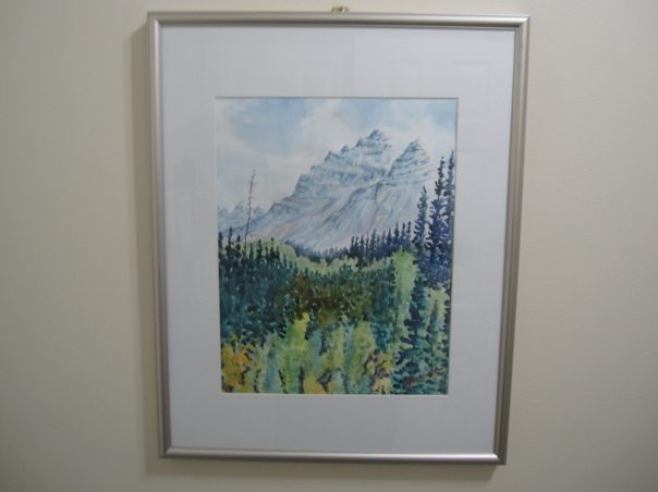 #21000 FOREST & MOUNTAINS ORIGINAL WATERCOLOUR