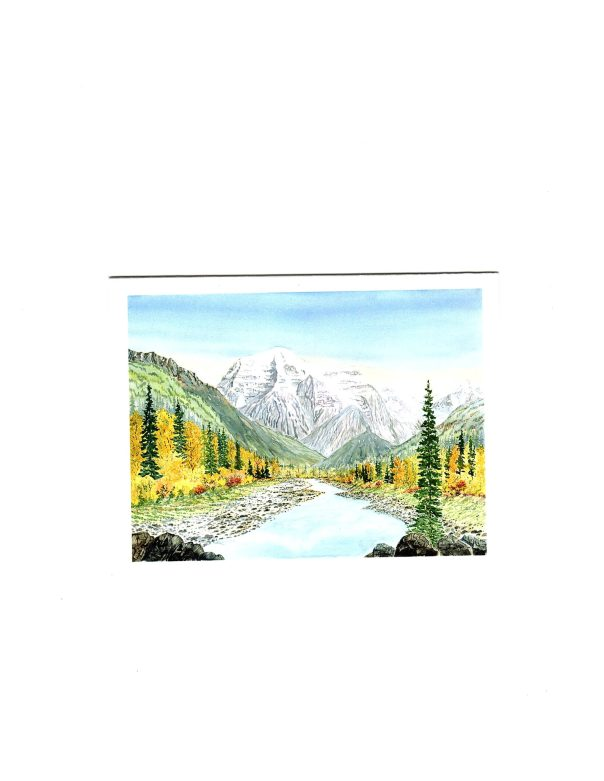 MOUNT ROBSON WATERCOLOUR PRINT