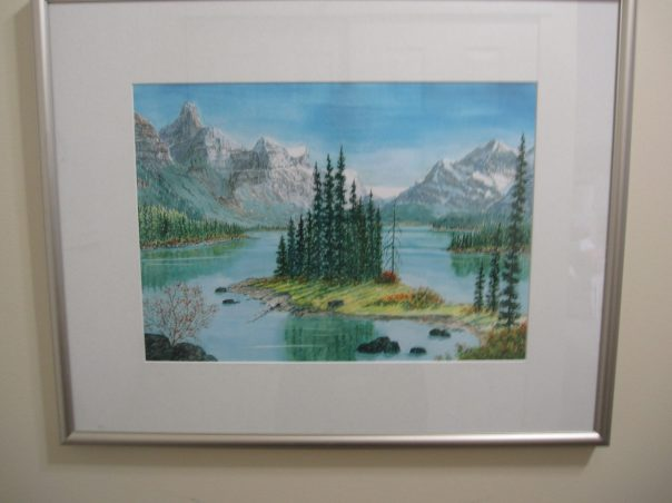 MALIGNE  LAKE WATERCOLOUR PRINT