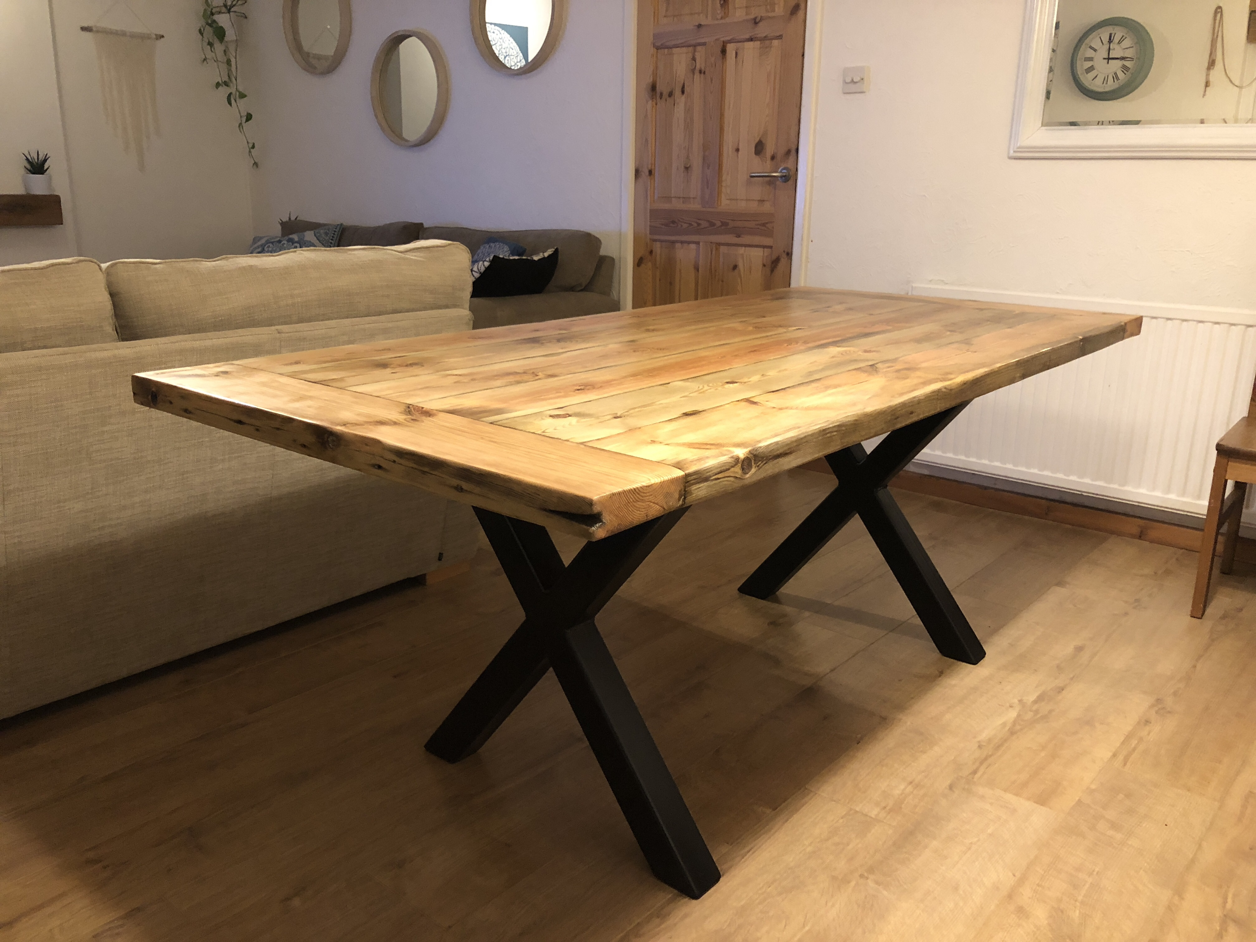 building a rustic industrial dining