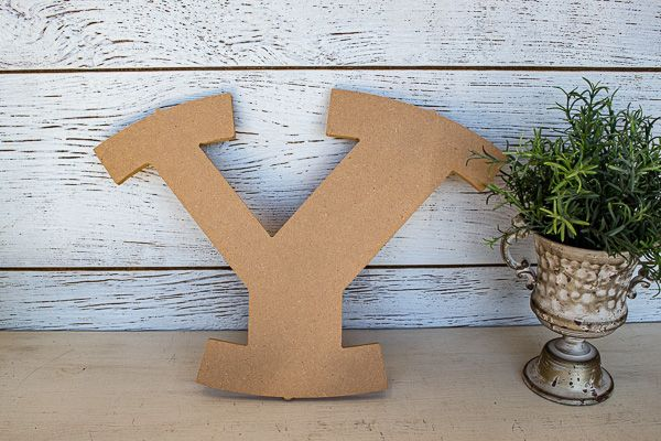 hanging Y sign