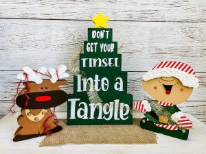 Tinsel in a tangle set
