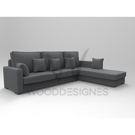 sasa series l shaped sofa grey
