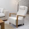 design nojatuoli, nojatuoli ja rahi, nojatuoli rahi, nojatuoli rahilla, puinen nojatuoli, puu nojatuoli,