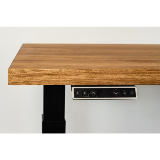electric writing desk, wooden writing desk, oak writing desk