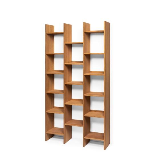 bookshelf, wooden bookshelf, oak bookshelf, shelf