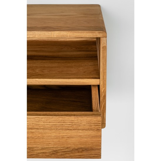 kelluva yöpöytä, floating nightstand, wooden nightstand, oak nightstand, wooden bedside table