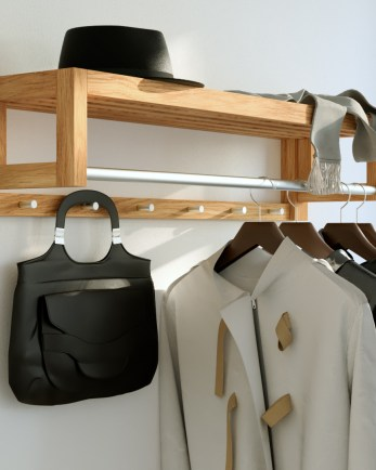 coat rack, wooden coat rack, wall mounted coat r