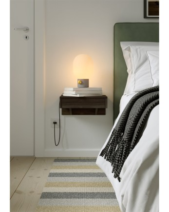 Floating nightstand, wooden nightstand, bedside table
