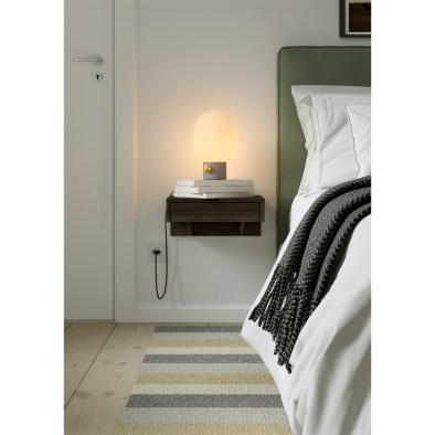 Floating nightstand, wooden nightstand, bedside table