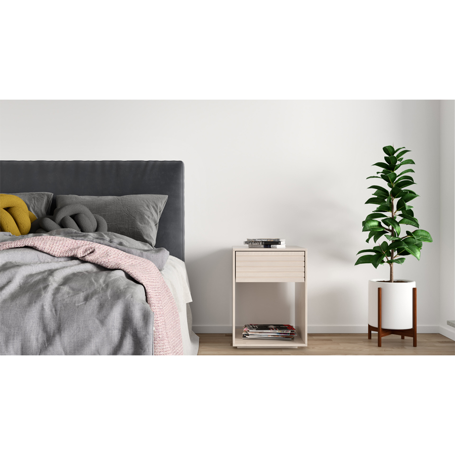 nightstand, wooden nightstand, white nightstand, birch nightstand, bedside table