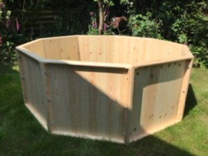 wooden baptistry 9-sided