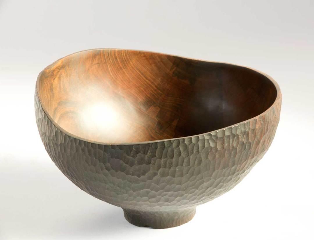 Ebonised Wooden Bowl No257 (2019)