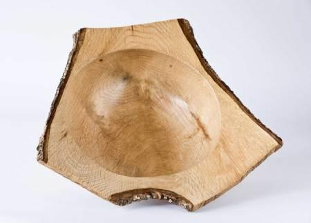 Oak Wooden Bowl
