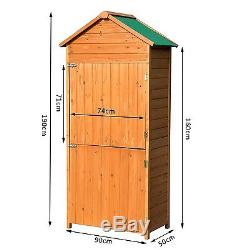 Outsunny Wooden Garden Shed Outdoor Tool Storage Cabinet Shelves     Outsunny Wooden Garden Shed Outdoor Tool Storage Cabinet Shelves Double  Doors