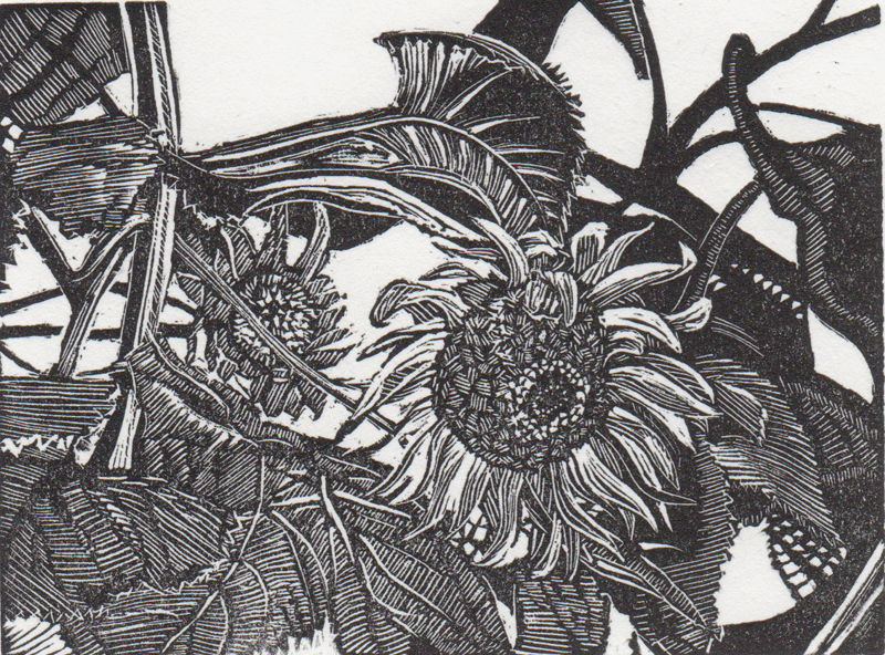 Autumn's Waning Flowers Crack and Sizzle in Linder's October Page