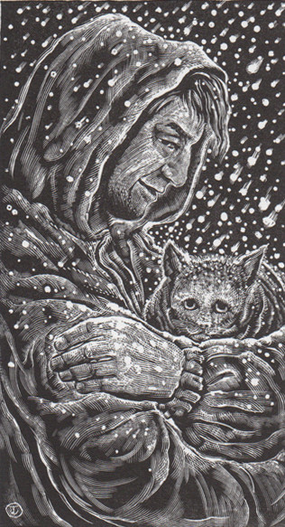 Snuggle up with Judy Jaidinger's December Calendar Page