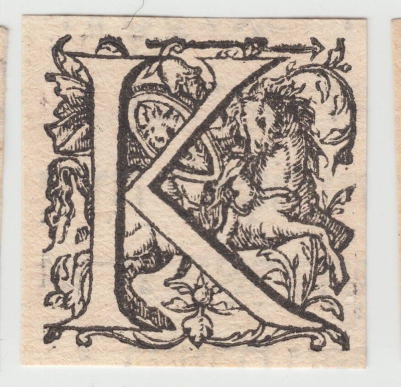 Engraved Renaissance Capitals on Exhibit