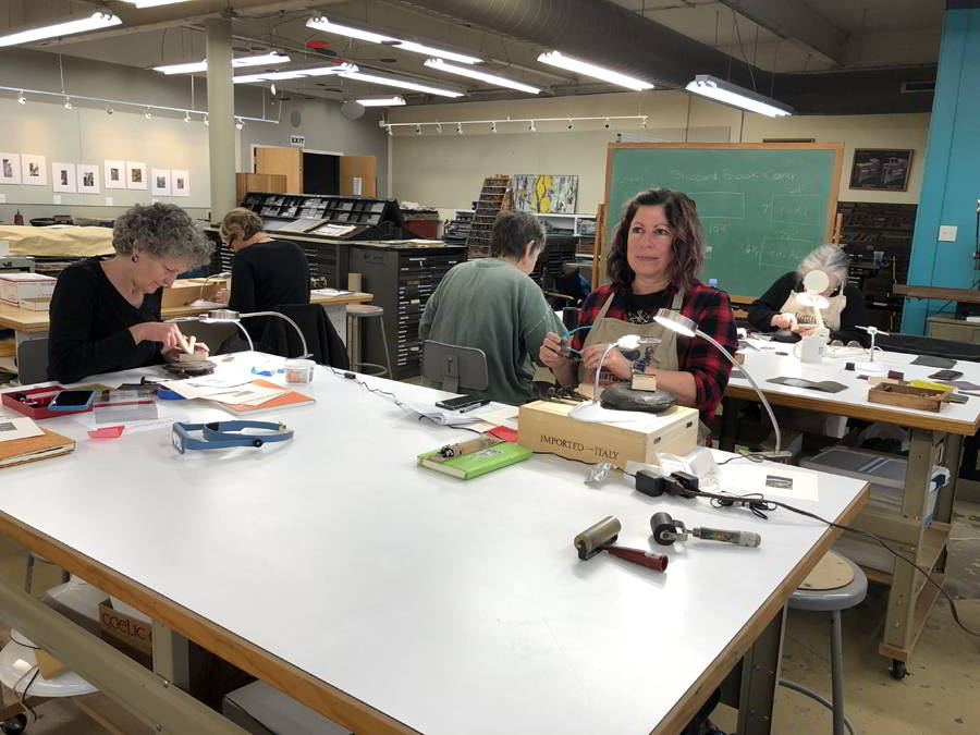 Wood Engraving Class at Asheville BookWorks!