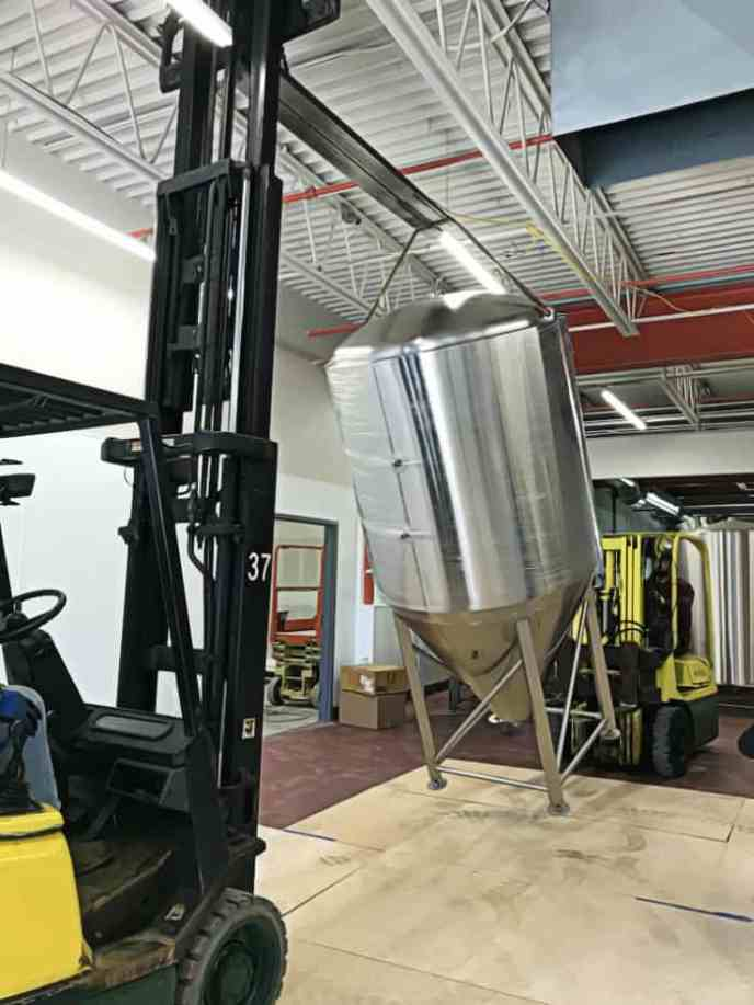 brewery equipment placed