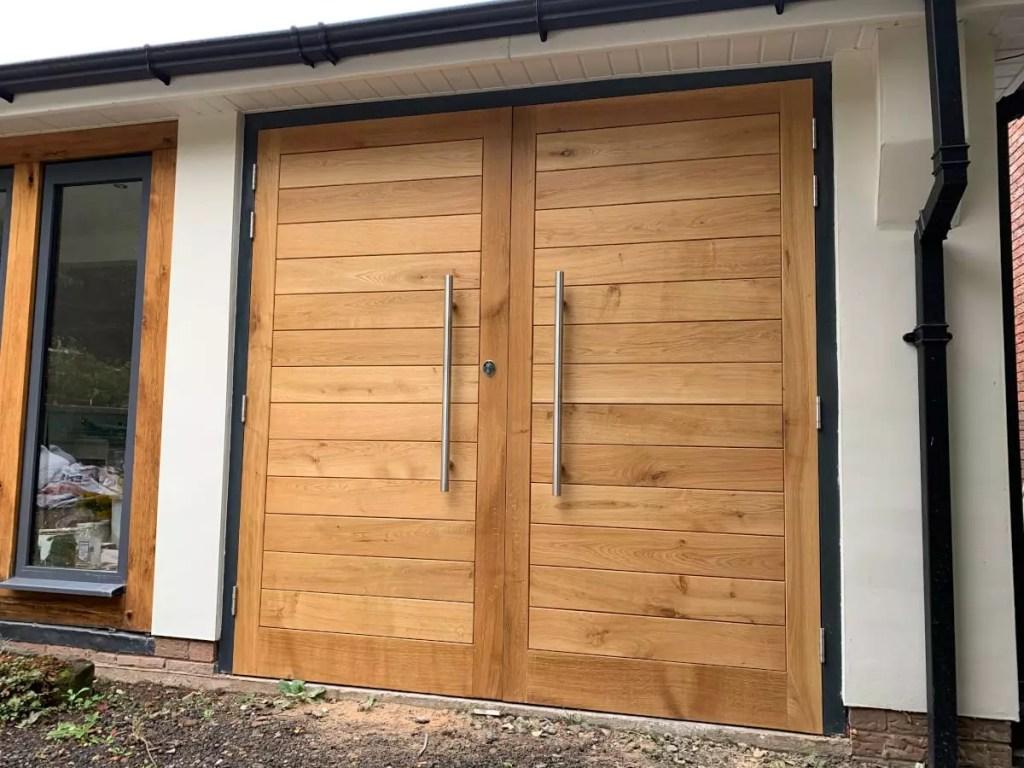 close up wooden doors