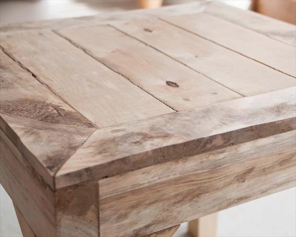 diy wooden pallet side table | wooden pallet furniture