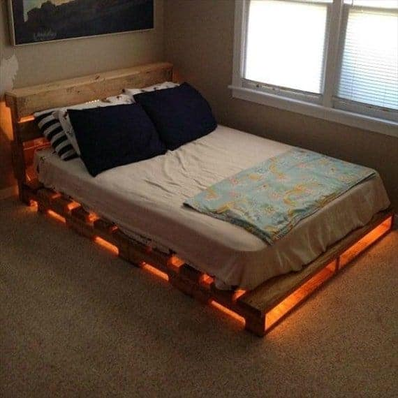 a pallet-bed-with-lights