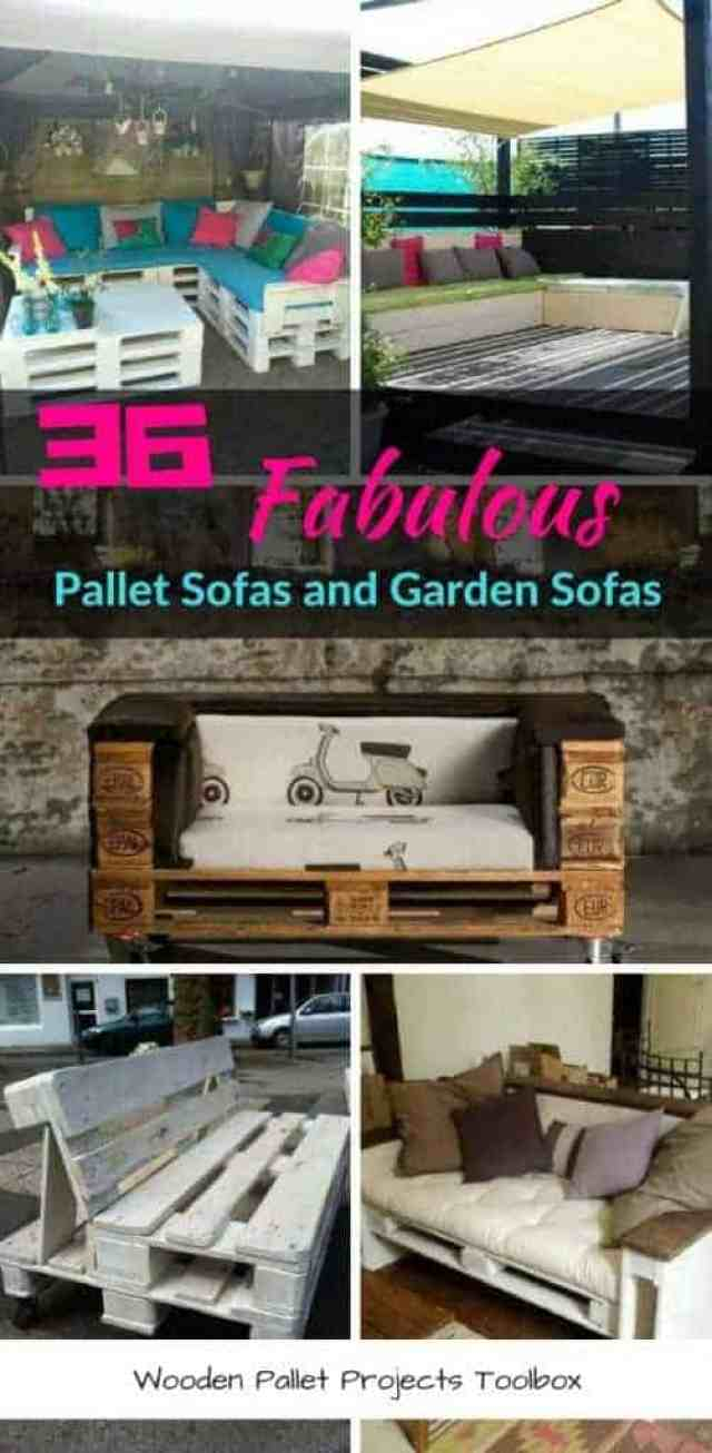 36 Fabulous Pallet Sofas and Garden Sofas
