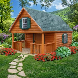 LakeSide Cabins Premier Collection - Log Pioneer Playhouse